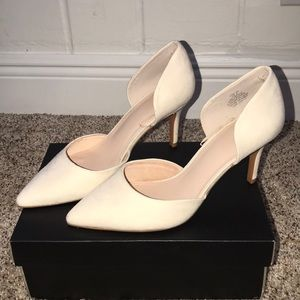 H&M Shoes - H&M suede like beige heel